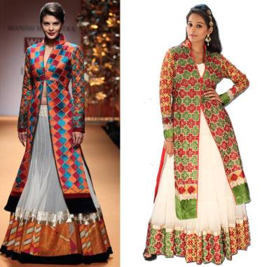 Net Gown with Phulkari Cape-Uptown Galeria